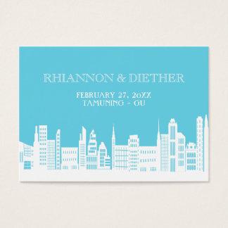 Stads- kort för stadsbröllopställe