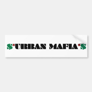 stads- maffiaklistermärke bildekal