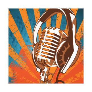 Stads- mikrofon canvastryck