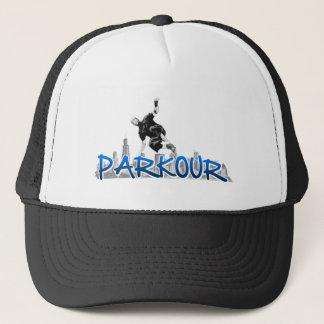 Stads- Parkour utrustar Truckerkeps