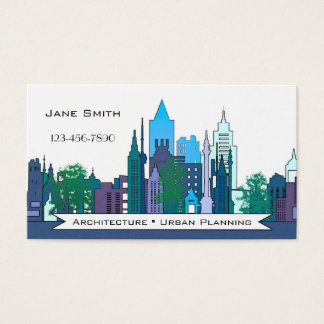 Stads- planera visitkort för arkitektur