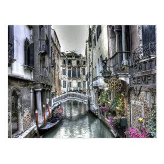 Stads- plats i den Venedig vykortet Vykort