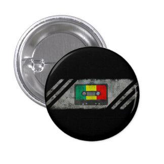 Stads- reggaekassett mini knapp rund 3.2 cm