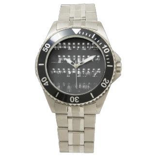 Stads- rostfritt stålklocka armbandsur