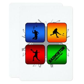 Stads- stil för fantastisk Badminton 12,7 X 17,8 Cm Inbjudningskort