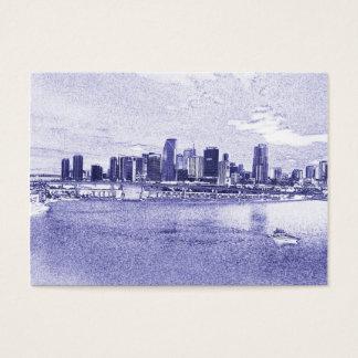 Stads- strandhorisontvisitkortar visitkort