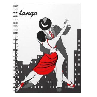 Stads- tango anteckningsbok med spiral