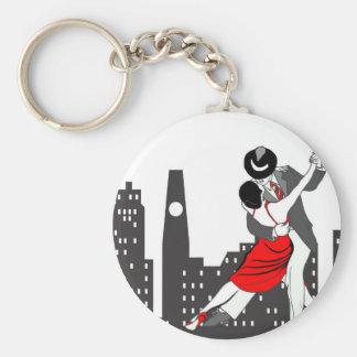 Stads- tango rund nyckelring