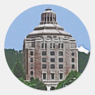 Stadsbyggnad, Asheville, NC Runt Klistermärke