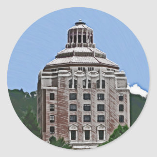 Stadsbyggnad, Asheville Runt Klistermärke