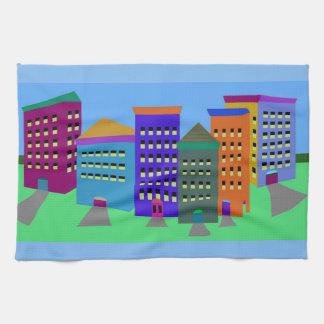 Stadskonst räcker handduken kökshandduk