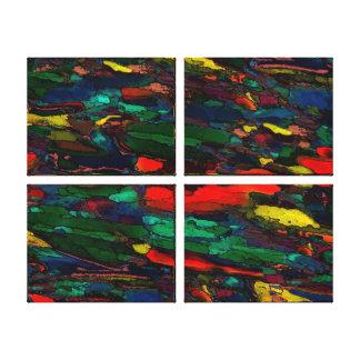 """Stadsliv ~Wrapped kanfas .75"""" abstrakt modern Canvastryck"""