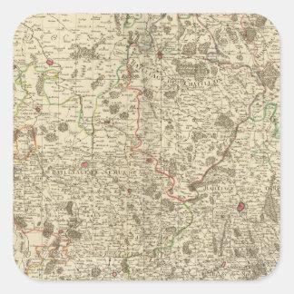 Stadsområden av frankriken fyrkantigt klistermärke