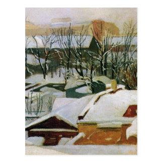 Stadstak i vinter av Ivan Shishkin Vykort