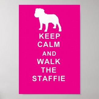 Staffordshire för affisch för Staffie behållalugn Poster