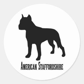 Staffordshire för amerikan 1715112006 Terrier Runt Klistermärke