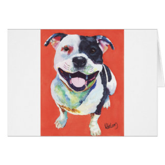 Staffordshire Terrier Hälsningskort