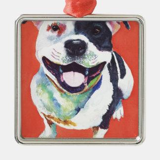Staffordshire Terrier Julgransprydnad Metall