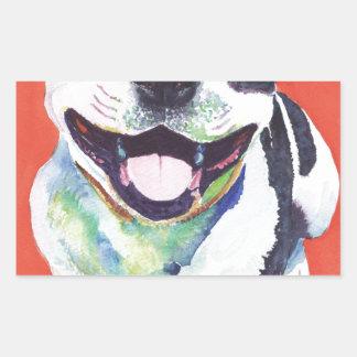 Staffordshire Terrier Rektangulärt Klistermärke