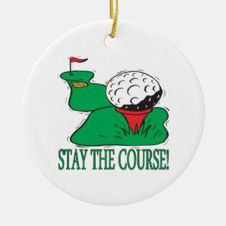 Stag jaga julgransprydnad keramik