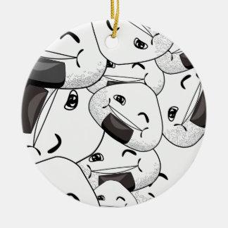 Stag nästan mig - lycklig julgransprydnad keramik