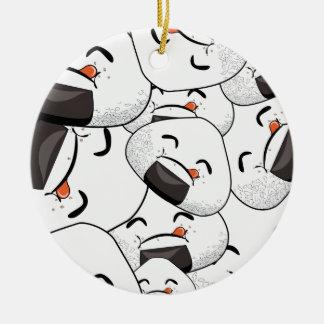 Stag nästan mig - som är smaskig julgransprydnad keramik