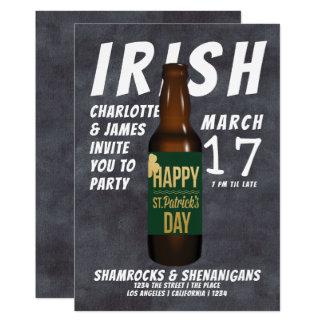 Ståhej för irländare för st patricks dayölparty 12,7 x 17,8 cm inbjudningskort