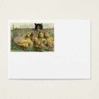 Staket för ägg för chick för kattungekattpåsk visitkort