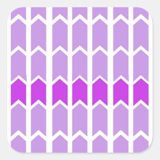 Staket för gränslavendelpanel fyrkantigt klistermärke
