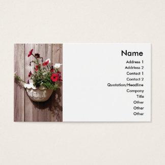 Staket- och blommarkrukväxt visitkort