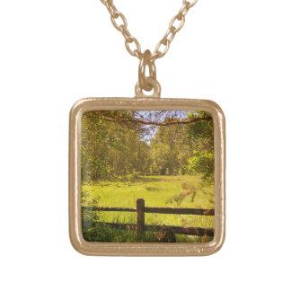 Staket på Oaksgrund Guldpläterat Halsband