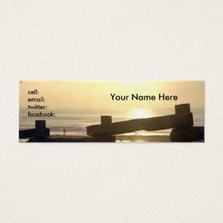 Staket på stranden litet visitkort