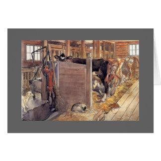 Stald eller stall 1904 hälsningskort