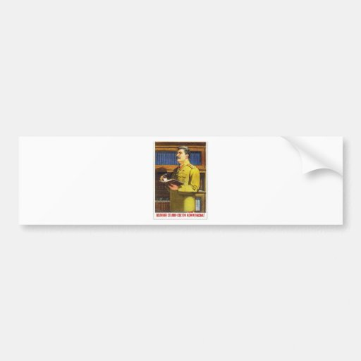stalin affischkonst bildekal