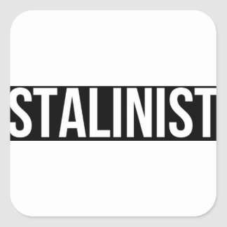 Stalinist Josef Stalin sovjet - fackliga USSR CCCP Fyrkantigt Klistermärke