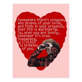 StalkerAnti-Valentin dag Vykort