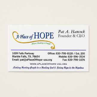 Ställe av hopp - vd:n visitkort