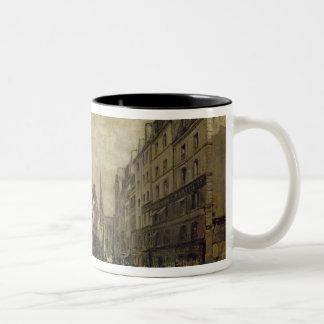 Ställe Maubert, Paris, 1888 Två-Tonad Mugg
