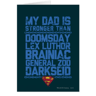 Stålman - min pappa är starkare än… hälsningskort