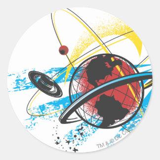 Stålman - planetomlopp runt klistermärke