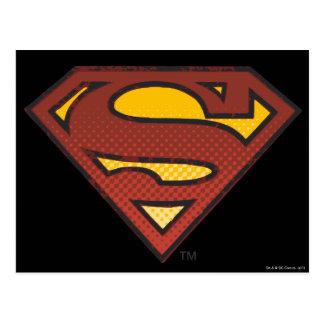 Stålmannen S-Skyddar bleknad   pricker logotypen Vykort