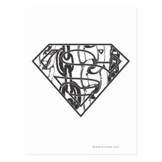 Stålmannen S-Skyddar den   Chainlink logotypen Vykort