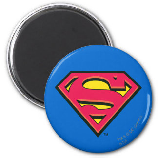 Stålmannen S-Skyddar den | klassikerlogotypen Magnet Rund 5.7 Cm
