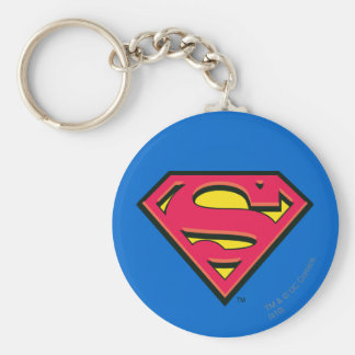 Stålmannen S-Skyddar den | klassikerlogotypen Rund Nyckelring