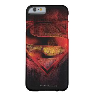 Stålmannen S-Skyddar den | målade logotypen Barely There iPhone 6 Skal