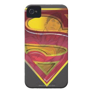 Stålmannen S-Skyddar den | reflexionslogotypen iPhone 4 Case-Mate Skydd