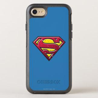 Stålmannen S-Skyddar den | skrapalogotypen OtterBox Symmetry iPhone 7 Skal