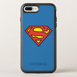 Stålmannen S-Skyddar den | stålmanlogotypen OtterBox Symmetry iPhone 7 Plus Skal