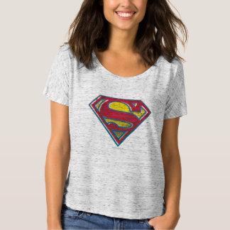 Stålmannen S-Skyddar den | utskrivavna logotypen Tee Shirts