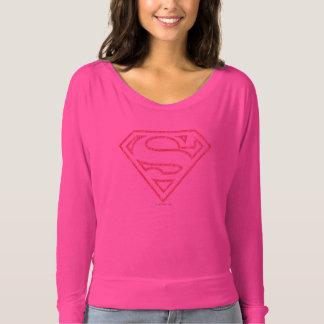 Stålmannen S-Skyddar röd | skisserar logotypen Tee Shirt